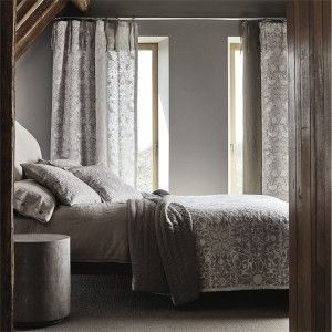 a-pure-strawberry-thief-silver-stone-graphite-natural-curtains-cushions-bedroom